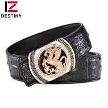 DESTINY Designer Belts Men Luxury Famous Brand Male Genuine Leather Strap Waist Gold Silver Horse Belt Pegasus Design Wedding