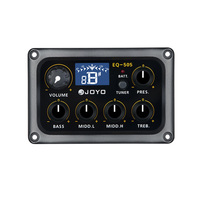 JOYO EQ 505 Digital 5 Band EQ Electric Acoustic Guitar Pickup Pick ups Preamp & Tuner with LCD Display Guitar Accessories