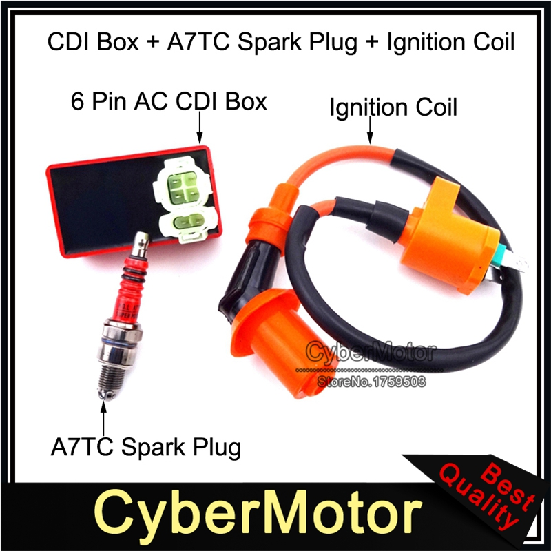 GOOFIT Ignition Coil with CDI Box for GY6 150cc Chinese