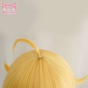 Image 4 - Peluca de pelo largo ondulado de Yang Xiao, color amarillo, resistente al calor, Cosplay, pelo sintético, peluca de Cosplay Yang Xiao Long