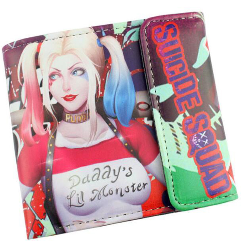 Suicide Squad DC Comics PU Leather Short Wallet Purse Bag Messenger Game Cosplay Girl Women Gift