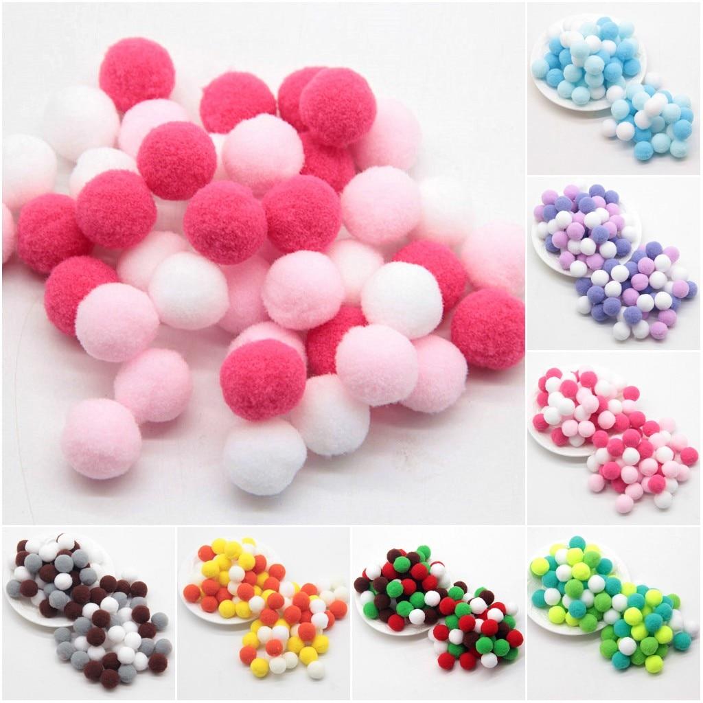 Мини Помпон 8 мм-30 мм Разноцветные пушистые Помпоны мягкие помпоны для шариков детские игрушки «сделай сам» Аксессуары для шитья ремесла 20 г
