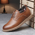 Brown Gray Blue Casual Shoes Adult Fashion Shoes For Men Solid Breathable Casual Dress Working Flats Four Season Mens Shoe