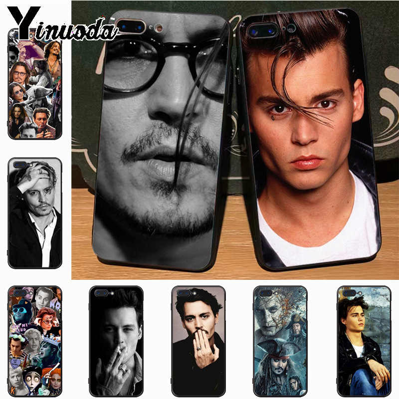 Yinuoda johnny depp Hot Selling Fashion phone case cover for iPhone 7plus 6S 6plus 7  8 8Plus X 5 5S case cover