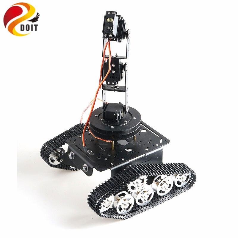 T300 RC châssis de réservoir avec 5 DOF Robot bras nuage pont Base rotative Robot à monter soi-même projet éducatif