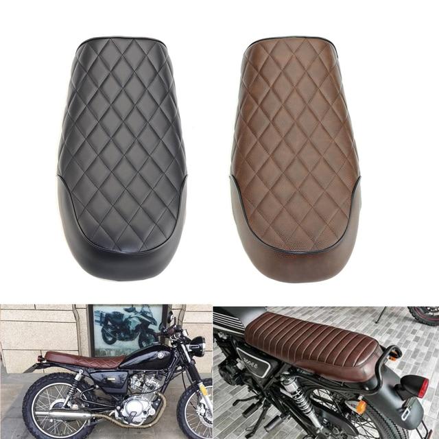 Black Brown Motorcycle Flat Vintage Cafe Racer Seat For Honda CB CL Retro CB200 CB350 CB400