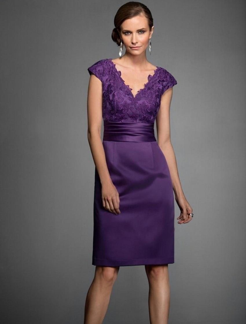 Sexy Vestido Púrpura Madre de la Novia Vestidos de Longitud de La ...