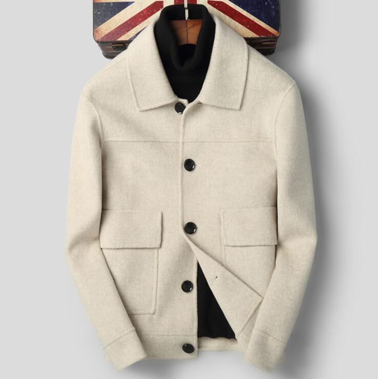 Men's Double Side Wool Cashmere Slim Casual Blazer E1026 006