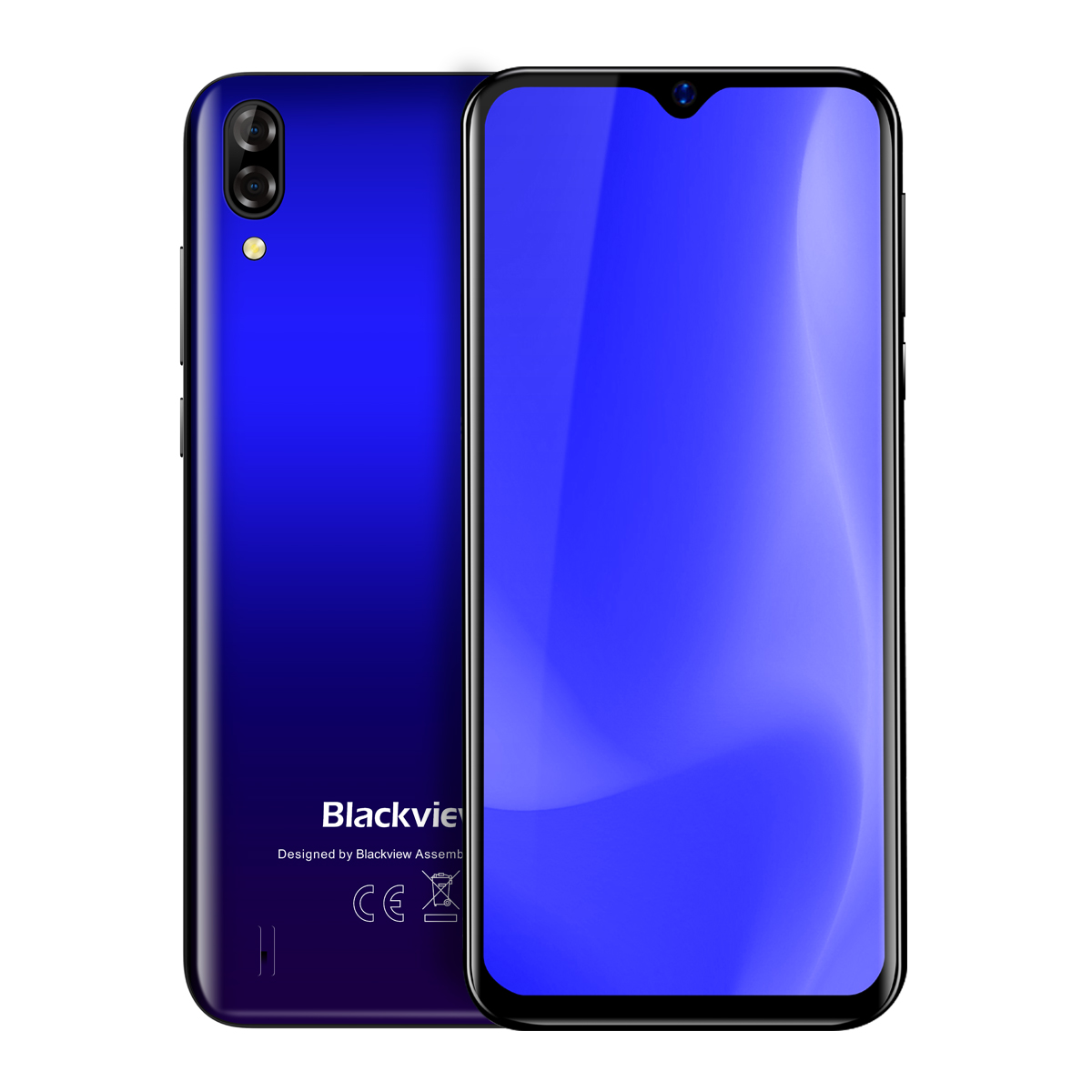 Blackview A60 Smartphone 4080mAh Android 8.1 13MP Dual Camera Cellphone MT6580A Quad Core 6.1