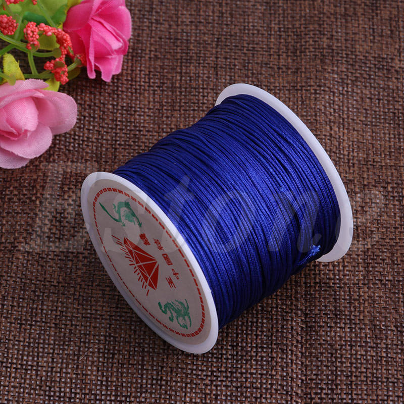 0 8mm Nylon Cord Thread Chinese Knot Macrame Rattail Bracelet Braided String 45M in Jewelry Findings Components from Jewelry Accessories