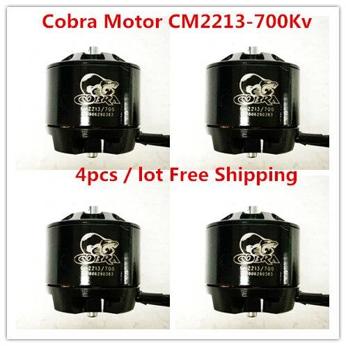 Cobra Motor CM2213-700Kv, Brushless Motor for Multirotor, Drone,Fpv racing,4pcs / lot, Free shipping