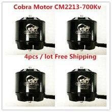 Cobra Motor CM2213-700Kv, Brushless Motor untuk Multirotor, Drone, Fpv racing, 4 pcs/lot, gratis pengiriman