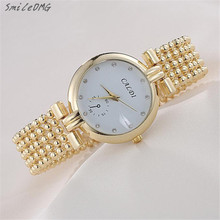 SmileOMG New Fashion Women's Lady Bracelet Stainless Steel Crystal Dial Quartz Wrist Watch Gift Free Shipping,Sep 7