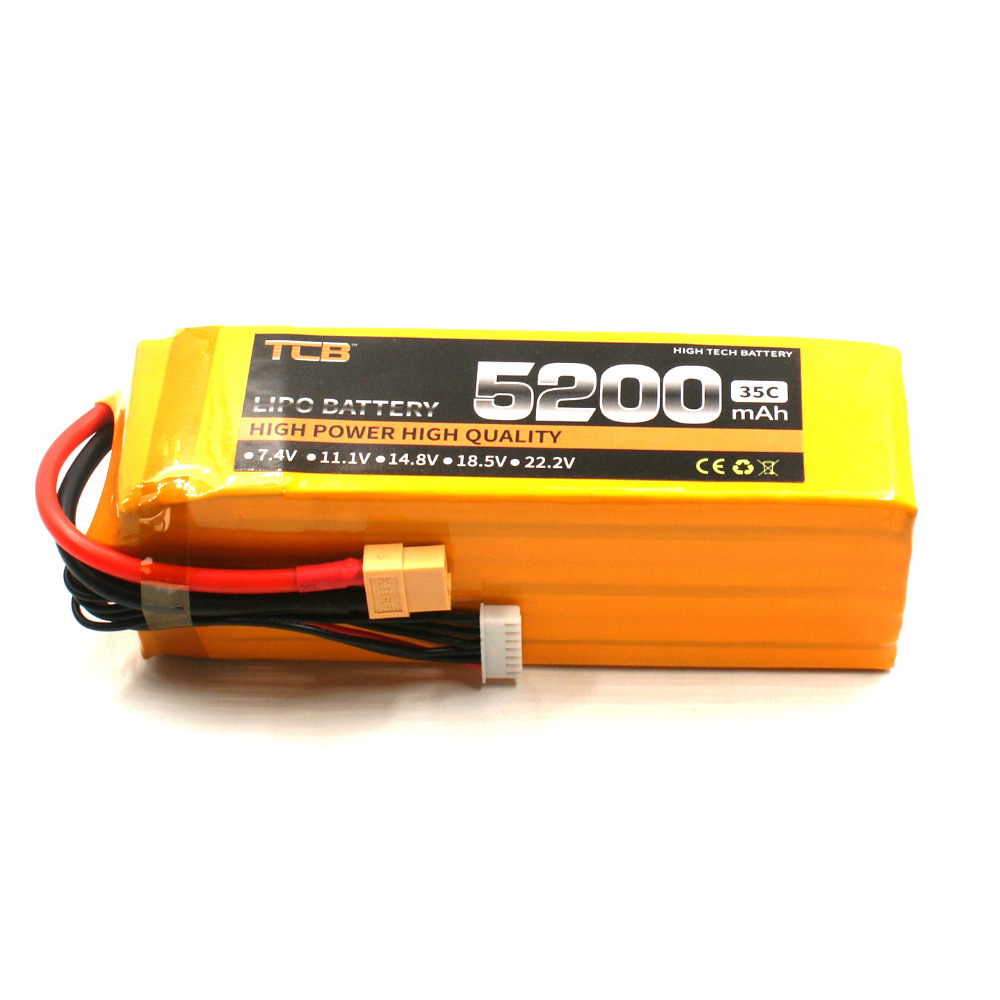 TCB lipo battery 22.2V 5200mAh 35C T/XT60 6s li-poly batterry for rc model airplane  car boat power AKKU 1s 2s 3s 4s 5s 6s 7s 8s lipo battery balance connector for rc model battery esc