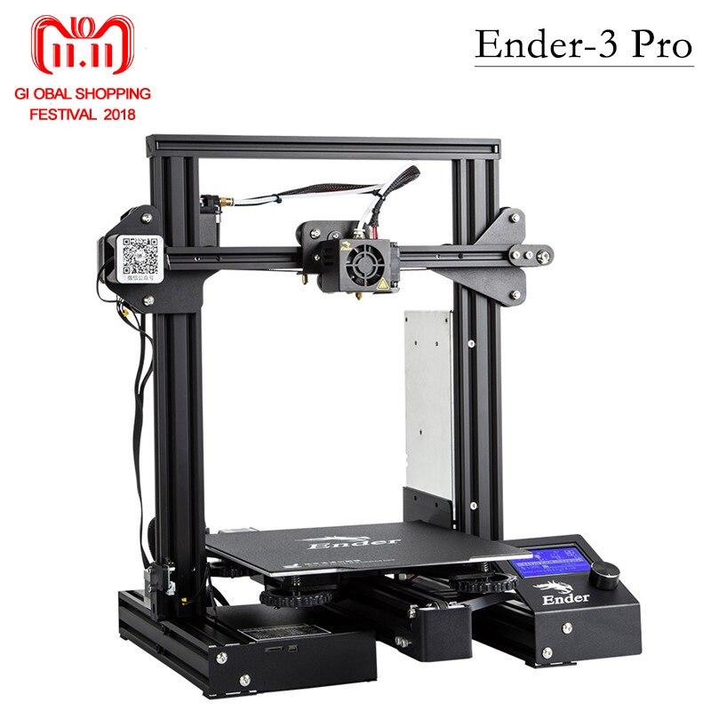 Più nuovo Ender-3 Pro 3D Stampante KIT FAI DA TE Aggiornata Cmagnet Costruire Piatto Riprendere Stampa di Mancanza di Alimentazione di Potenza MeanWell Morbido magnetico