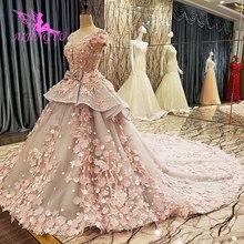 AIJINGYU impresionante vestido blanco gitano barato tren largo Simple abierto vestidos de espalda con Color vestidos para bodas