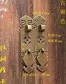 Китайская Бронзовая рукоятка под старину Чистая Прямая Вертикальная деревянная дверная ручка шкафа Классические Медные линии