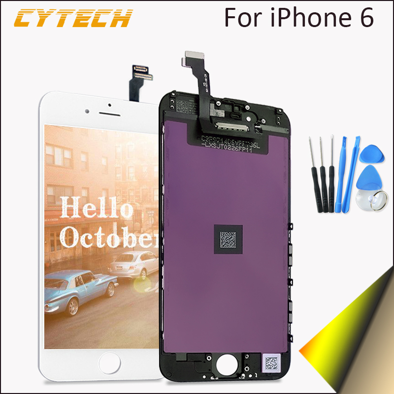 ФОТО Recommended No Dead Pixel Display For Apple iPhone 6 LCD Touch Screen Part Black White 4.7 inches With Digitizer High Quality