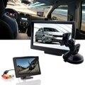 5 polegada TFT LCD Suporte de Sucção Do Carro Rear View Monitor de Estacionamento Retrovisor Monitor de Tela Para DVD VCD Câmera Reversa