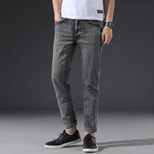 Image 5 - קלאסי גברים של אפור כהה ג ינס 2020 חדש מכנסיים אופנה מזדמן כותנה אלסטי Slim Fit מותג מכנסיים זכר