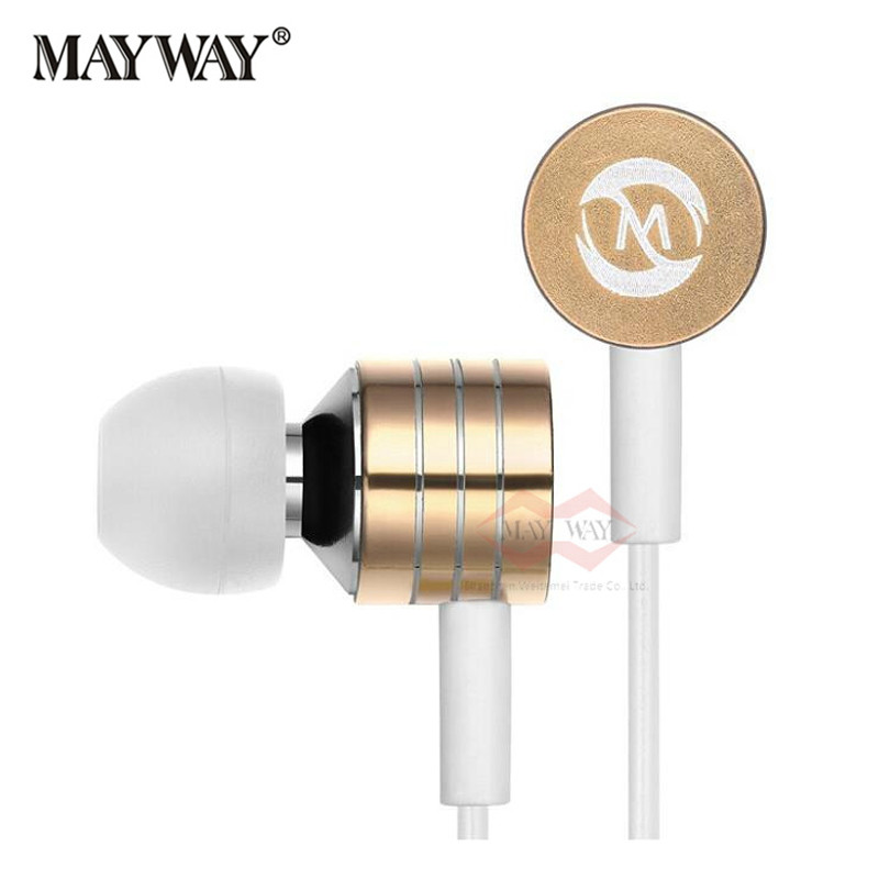 New fashion Mosidun Earphone Universal Stereo 3.5mm Mic for iPhone iPod Cellphone In-ear Sport Running Headset With Mic