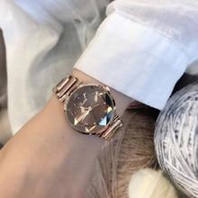 Высокое качество Япония движение часы для женщин Классический Простой Дамы Розовое Золото Стальной браслет платье наручные часы сияющий цвет поверхности