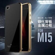 Роскошные Mi5 гибридный Чехол Бренд Luphie alu Mi num металлический каркас + Закаленное стекло Защитная крышка для сяо mi Mi5 M5/Mi5/Mi 5