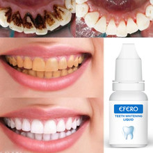 EFERO Effective Teeth Whitening Essence White Teeth Dental Oral Hygiene Removes Plaque Stains Tooth Bleaching Cleaning Serum(China)