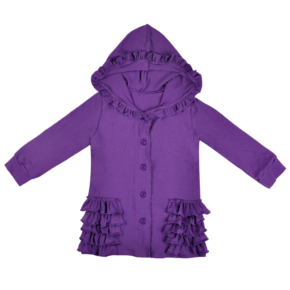 Hot Kids Winter Jacket for Toddler girls Fall Clothes Jacket Solid Color Hooded outerwear Coats Long Sleeve Ruffle Clothing casual style hooded long sleeve solid color zip design hoodie for women