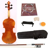 Handmade violin 4/4 Copy Stradivari model Sweet Sound Flame Maple Spruce Violin 3123#