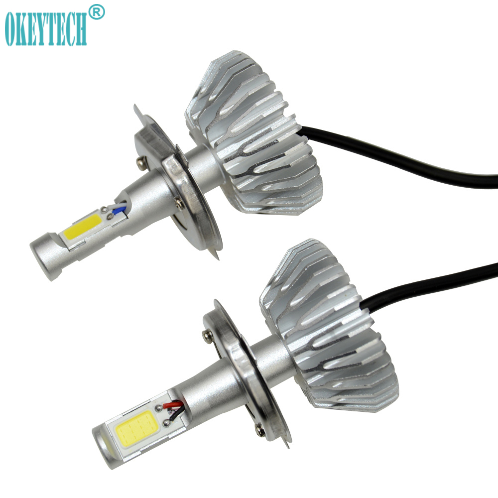 Okeytech 2pcs Lot H4 9003 Hb2 Led Headlight Car Light Bulb Lamp Circuit Board50503smd China 6000k 20w 12v Accessories Front Fog Free Shipping In Bulbsled