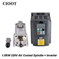 New Arrive 1 5kw Air Cooled Spindle Motor Cnc Spindle Motor 220V 1 5KW Inverter Square