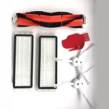 2 filtre HEPA + 2 brosse latérale + 1 brosse principale pour Xiaomi Mi Robot aspirateur avec outil pièces de nettoyage accessoires