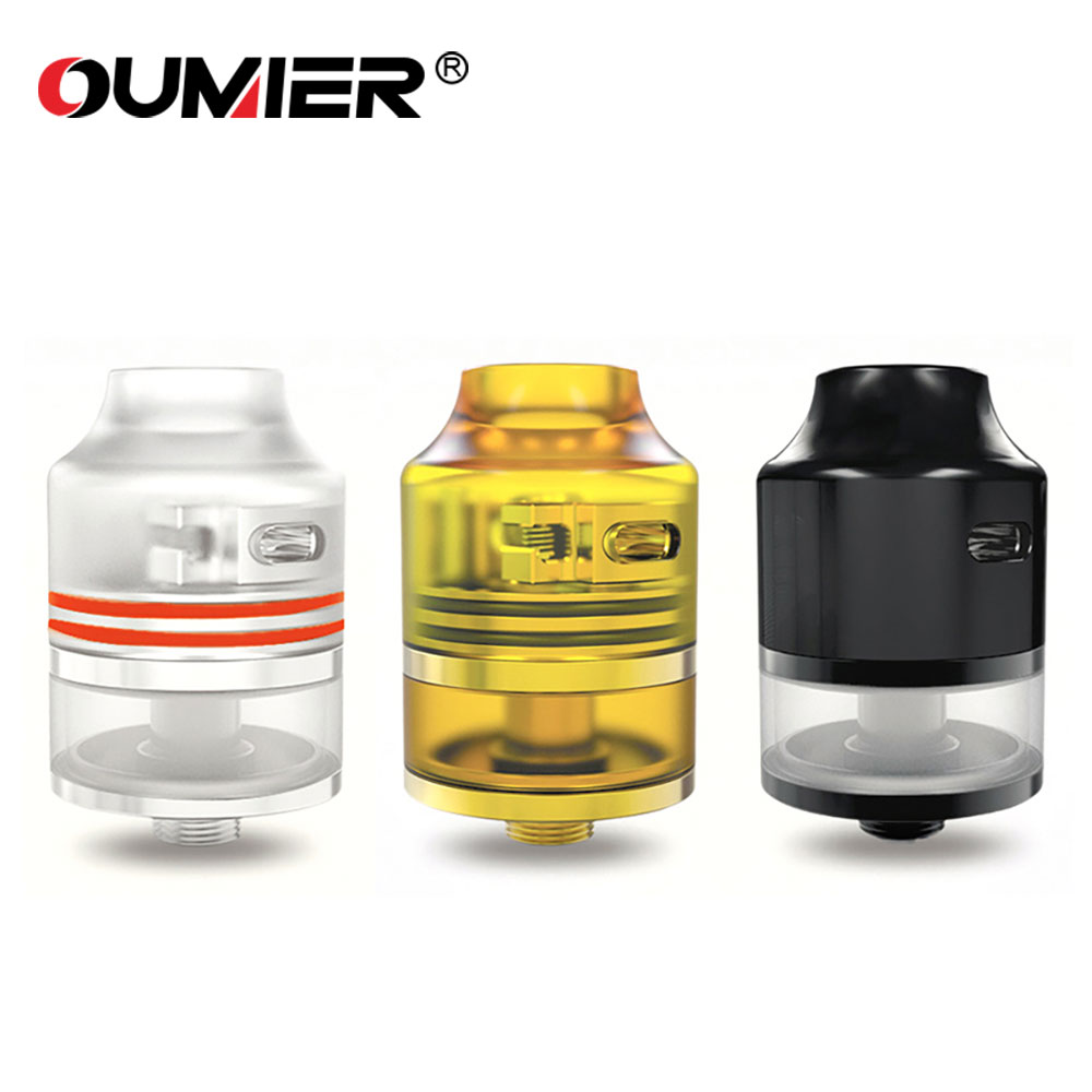 Original OUMIER WASP NANO RDTA 2ml Capacity Tank with Unique Adjustable Airflow System & Easy Building Big Deck E-cig Atomizer authentic 215w ijoy limitless lux dual 26650 battery 8400mah big capacity mod e cig fit limitless rdta plus limitless lux