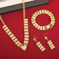 Newest Cheap Golden Jewellery Girls Dubai Gold Jewellery Set Turkish Egyptian Algeria Indian Moroccan Saudi Gold