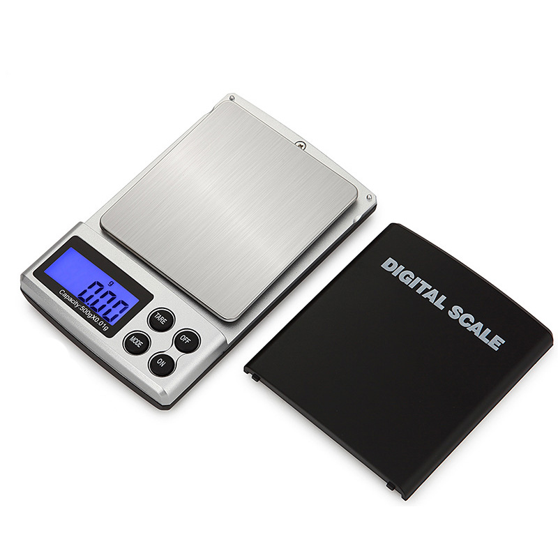 Urijk Mini Digital Scale High Accuracy 100/200/300/500/1000g 0.01/0.1g Backlight Electric Pocket Gram For Lightweight Jewelry