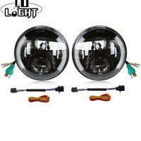 CO LIGHT 1 Pair Running Lights 80W 30W Hi Lo Fog Lights Turn Signal Off Road Car Led Lights For Lada Niva Uaz Nissan Jeep 12V