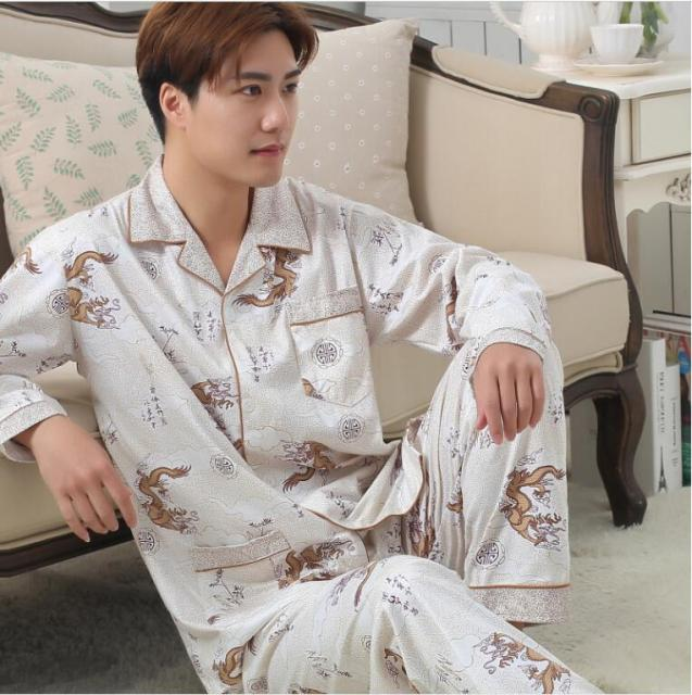 Pijama masculino Pyjamas homme Mens sleepwear Autumn Long sleeve 2016 Pajama Sets