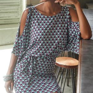 Summer Print Casual Dresses Wo