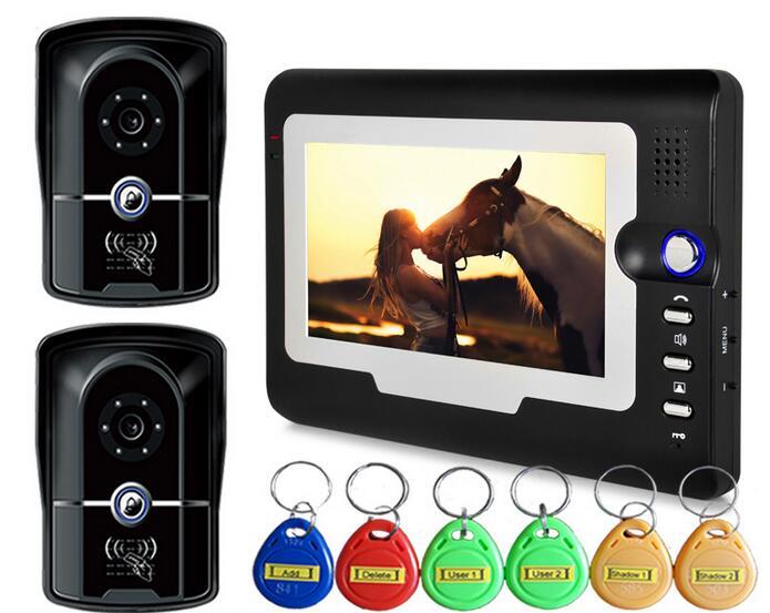 Freeship font b Door b font Access Control 7 LCD Display Video font b Camera b