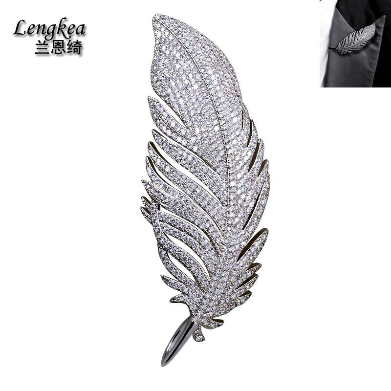 Livraison gratuite accessoires de mode hommes costumes tempérament corsage cristal plume broche broche femme pull broche cadeau
