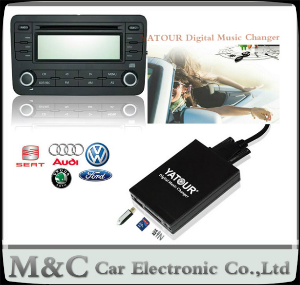 YATOUR Digital Music CD Changer AUX SD USB MP3 Adapter For