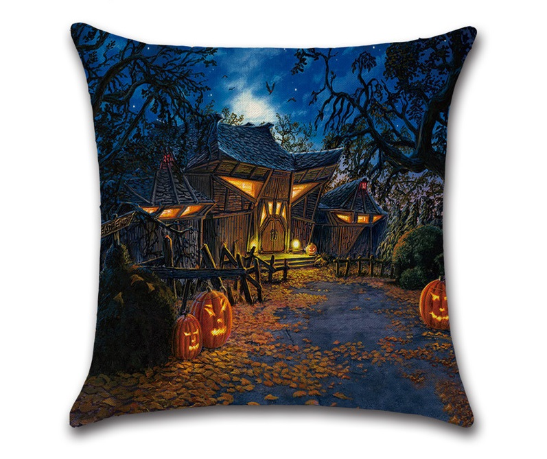 Image 5 - CAMMITEVER Halloween Black Cat Moonnight Cover Decorative Throw Pillow Sofa Home Decor Decorativos Coussin Almofada Cojines-in Cushion Cover from Home & Garden