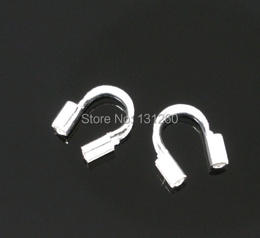 200pcs/lot Silver Plated Wire Guardian Wire Protectors 5x5mm jewelry findings components стоимость