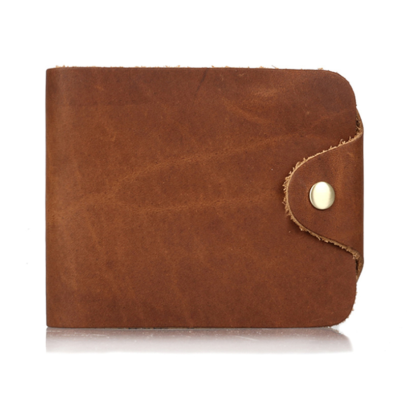 Men Wallet Crazy Horse Genuine Leather Cowhide Purse Money Vintage Documents On Cover Short Casual 2017 Coin Holder Card Wallets top cowhide sew on genuine leather steering wheel cover for chevrolet captiva at
