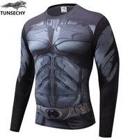 Мужская компрессионная футболка с 3D принтом «Бэтмен против Супермена», реглан с длинным рукавом, костюм для косплея, подходит для одежды, Му...