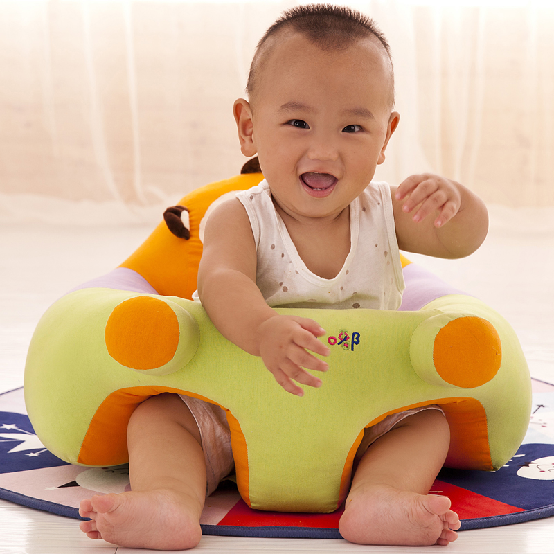 Baby Seats Plush Supportive Animal Baby Sofa Chair Seat Cover Support Comfortable Toddler Nest Puff Washable No Filling Cradle