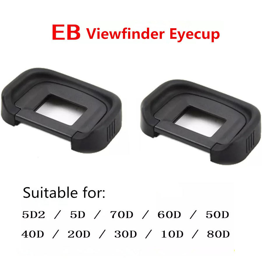 2 pcs Rubber Eye Cup EB Viewfinder Eyecup for <font><b>Canon</b></font> EOS 10D 20D 30D 40D 50D 60D 70D 80D <font><b>5D</b></font> <font><b>5D</b></font> Mark II 6D 6DII Camera <font><b>Accessories</b></font> image