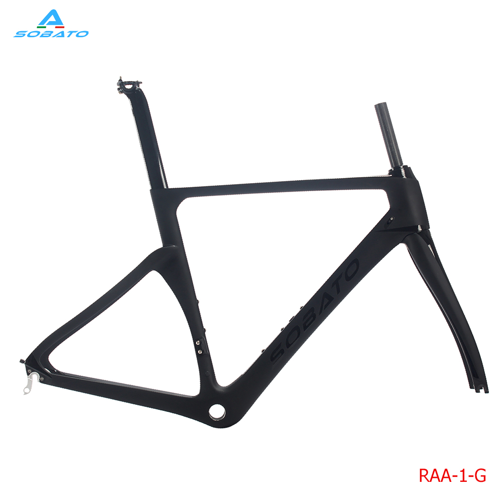 sobato newest 700c track aero bike frame bsa carbon road bike frame sets with headsets