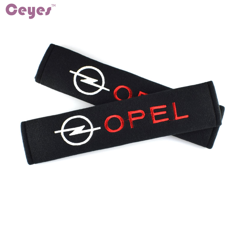 все цены на Ceyes Car Styling Auto Seat Belt Cover Case For Opel Astra Antara Meriva H G Corsa Insignia Car Interior Accessories Car-Styling